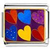 Six Hearts Charm Photo Italian Charm
