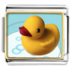 Swimming Rubber Ducky Photo Italian Charm