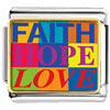 Faith Hope Love Photo Charm