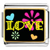 Love Hearts And Flowers Charm Photo Italian Charm