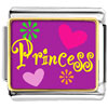 Princess Hearts And Flowers Charm Photo Italian Charm