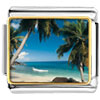 Tropical Beach Scene Charm Photo Italian Charm