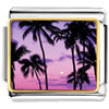 Tropical Sunset Charm Photo Italian Charm