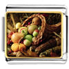 Thanksgiving Horn Of Plenty Charm Photo Italian Charm