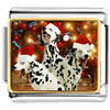 Christmas Dalmatian Dogs Charm Photo Italian Charm
