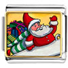 Santa And Gifts Charm Photo Italian Charm