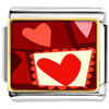 Paper Cutout Hearts Charm Photo Italian Charm
