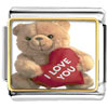 I Love You Bear Charm Photo Italian Charm