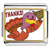 Turkey Giving Thanks Charm Photo Italian Charm