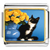 Cat With Flowers Charm Photo Italian Charm