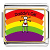 Rainbow Daddy' S Girl Charm Photo Italian Charm