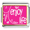 Enjoy Life Hearts Charm Photo Italian Charm