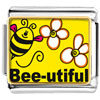 Bee Utiful Flowers Charm Photo Italian Charm