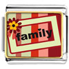Family Flower Frame Charm Photo Italian Charm