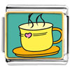 Warm Tea Coffee Charm Photo Italian Charm