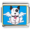 Black And White Dog From Heaven Charm Photo Italian Charm