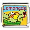 Summer Turtle Lemonade Charm Photo Italian Charm