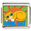 Cool Cat Charm Photo Italian Charm