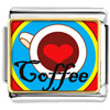 Heart Coffee Charm Photo Italian Charm