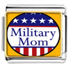 American Military Mom Charm Photo Italian Charm