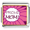 Pink Proud Mom Charm Photo Italian Charm