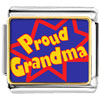 Proud Grandma Charm Photo Italian Charm