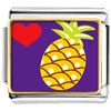 Heart Pineapple Charm Photo Italian Charm