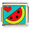Heart Watermelon Charm Photo Italian Charm