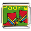 Padre Colorful Boots Charm Photo Italian Charm