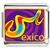 Multicolored Mexico Charm Photo Italian Charm