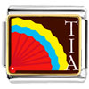 Multicolored Tia And Fan Charm Photo Italian Charm