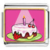 Birthday Cake In Spotlight Charm Photo Italian Charm