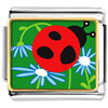 Curious Ladybug Charm Photo Italian Charm