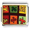 Multicolored Autumn Leaves Charm Photo Italian Charm