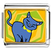 Russian Blue Cat Charm Photo Italian Charm