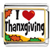 I Love Thanksgiving Charm Photo Italian Charm