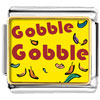 Gobble Gobble Thanksgiving Turkey Charm Photo Italian Charm