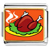 Sizzling Delicious Turkey Charm Photo Italian Charm