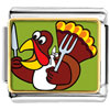 Hungry Thanksgiving Turkey Charm Photo Italian Charm