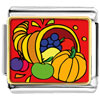 Thanksgiving Food Basket Charm Photo Italian Charm