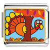 Hiding Thanksgiving Turkey Charm Photo Italian Charm