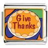 Give Thanks In Thanksgiving Charm Photo Italian Charm