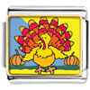 Colorful Autumn Turkey Charm Photo Italian Charm