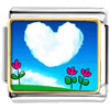 Heart Shape Cloud Photo Charm Photo Italian Charm