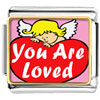 You Are Loved By An Angel Photo Charm Photo Italian Charm