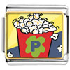 Movie Popcorn Photo Charm Photo Italian Charm