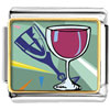 Champagne Drink Celebration Charm Photo Italian Charm