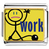 Tied To Work Charm Photo Italian Charm