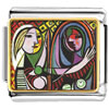 Girl Before A Mirror Painting Charm Photo Italian Charm