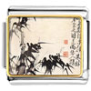 Bamboo Painting Charm Photo Italian Charm